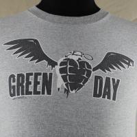 Green Day American Idiot 2005 Winged Heart Grenade Mens T Shirt Small