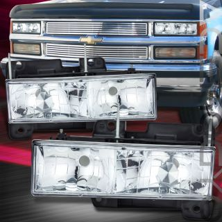 1992 19999 Chevy GMC Suburban Ykon Pickup Truck Chrome Head Lights