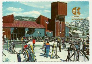 Vinage Poscard Copper Mounain Ski Chale House Colorado Snow Co