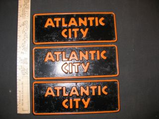 ATLANTIC CITY VINTAGE 1954 METAL BICYCLE BIKE NAME LICENSE PET CYCLE