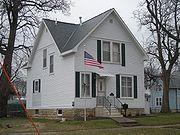 Grant Wood boyhood home, Cedar Rapids, Iowa . Listed as one of the