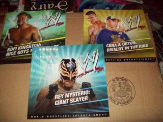wwe books lot rey mysterio cena orton Kofi Kingston brand new
