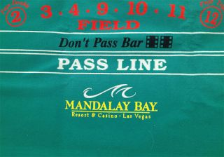 Mandalay Bay Casino Green Craps Layout 140 x 52 Great Price Terrific