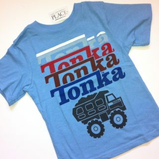 NEW Tonka Truck Baby Boys Graphic Shirt 18 24 Months 2T Gift Blue Red