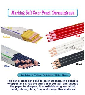 Paper Wrapped Dermatograph Soft Color Pencils 1 Dozen