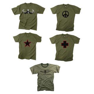 Emblem T Shirts Army Logo Shirts Olive Drab Graphic Tees