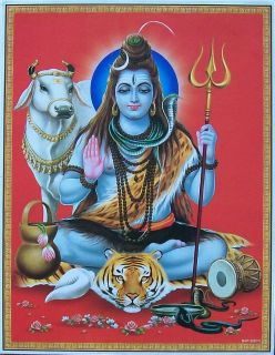 Lord Shiva Hindu God Lovely Poster 9x11 2281 N