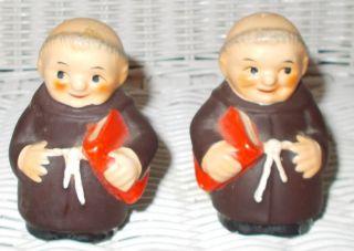 Goebel West Germany Friar Tuck Matched Set Salt Pepper Shakers Hummel