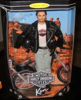 HARLEY DAVIDSON KEN DOLL W jacket helmet belt buckle more NRFB