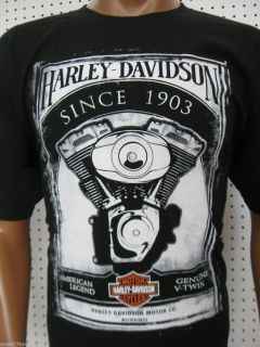 Mens Harley Davidson Engine Paint T Shirt