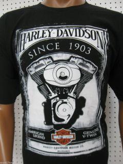 Mens Harley Davidson Engine Paint T Shirt