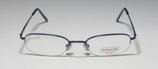 New Coach Greenwich 304 51 19 140 Blue Half Rim Eyeglass Glasses