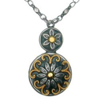 Michal Golan Silver Gold RARE Flower Necklace