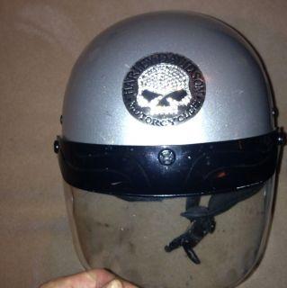 Harley Davidson Open Face Helmet w Shield