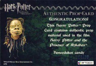 Harry Potter POA RARE Honeydukes Candy Prop Card 07 75