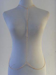 Fashion Women Sexy Gold Body Jewelry Choker Full Belly Chain Necklace