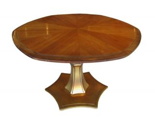Mahogany Gold Coffee Dining Table Drexel Plaudit Line
