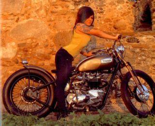 Greasy Kulture Magazine 5 Bobber Chopper Triumph Harley Rat Bike Old