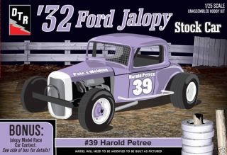 32 Ford Jalopy Stock Car 39 Harold Petree Model Kit