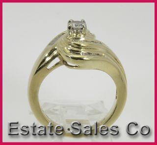 yellow gold round baguette diamond wedding ring 0 52 carats