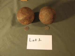 Civil War Cannon Balls from The Battle of Hartville MO