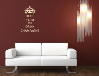 Champagne Wall Sticker Paint Wall Paper Quote Decal Interior