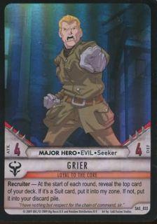 Grier SAS 033 Evil Super RARE Huntik Card Flat 99c Shipping per Order