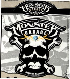 Monster Garage w Skull Auto Art Licensed Logo Decals