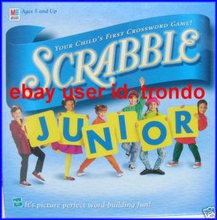 Scrabble Junior Jr Board Game Milton Bradley Hasbro New