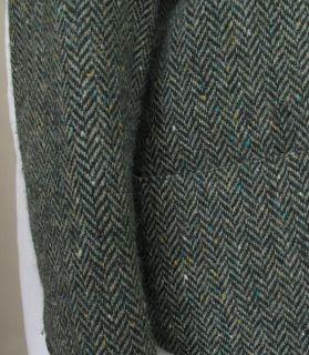 Brian Tucker Irish Tweed Blazer Green Wool 8 Made in Ireland Perfect