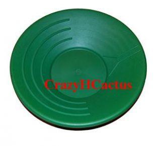 Gold Pan Panning 14 High Impact Plastic Green Prospecting Mining Free