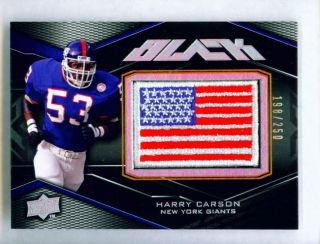 Harry Carson 2009 UD Black American Flag Patch Card New York Giants