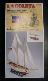 Mini Mamoli La Goleta Schooner Americano All Wood SHIP Model Kit