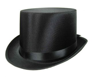 Quality Child Satin Top Hat Slash Victorian Dickens School Play