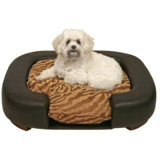 Unleashed Life Makati Pet Bed in Distressed Walnut Wood Veneer   MAK