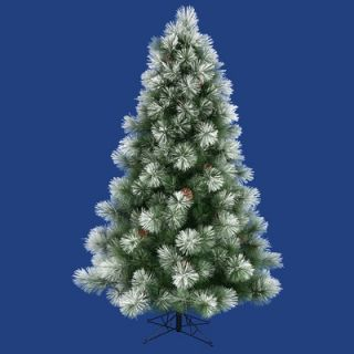 Vickerman Flocked Alpine 36 Artificial Christmas Tree with Clear