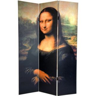 Oriental Furniture 6 Feet Tall Double Sided Mona Lisa and Botticelli