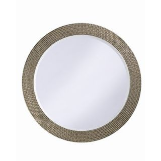 Uttermost Lara Oval Beveled Mirror in Antiqued Silver Leaf