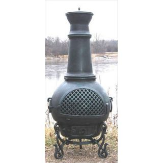 The Blue Rooster Gatsby Style Chiminea   ALCH016x / COVER