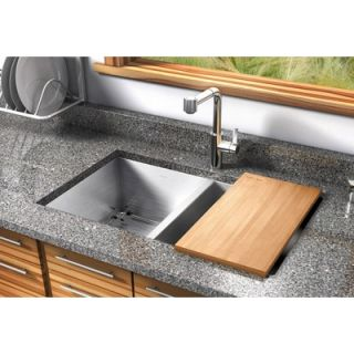 Water Creation 31 x 18 Undermount 50/50 Double Bowl Stainless Steel
