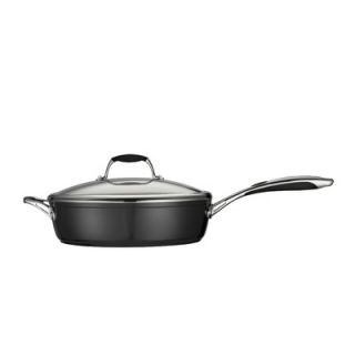 01 Deluxe Porcelain Enamel Metallic Black Covered 11 in Deep Skillet