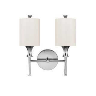 Capital Lighting Studio 13.5 Two Light Wall Sconce with White Shade