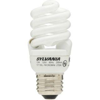 Sylvania 13 Watt Micro Mini Compact Fluorescent Bulb (2 Pack