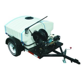 Gas Trailer Mounted Pressure Washer with 14 HP Hatz Diesel Engine