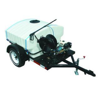 Gas Trailer Mounted Pressure Washer with 14 HP Hatz Diesel Engine