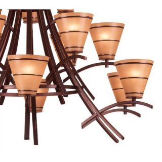 Kenroy Home Wright 15 Light Chandelier   90088ORB