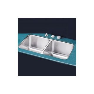 Elkay 16x31 Double Bowl Undermount Stainless Steel Kitchen Sink with