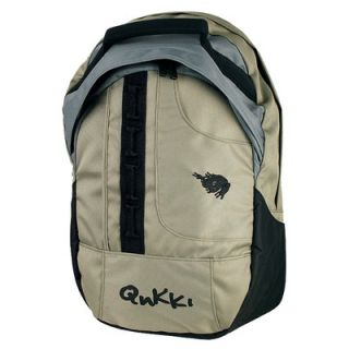 QNKKI 17 Laptop Backpack in Chive and Grey
