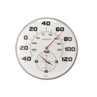 Taylor Extra Large Metal Thermometer with 18 Clock