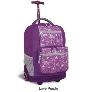 World Sunset 18 Multi Pocket Rolling Backpack